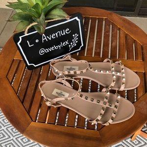 Valentino PVC Rockstud Sandals